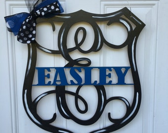 Policeman door hanger, back the blue, police door hanger