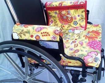 Wheelchair Seat cover.Handmade, duck cloth, washable.