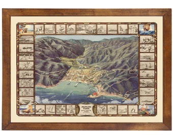 Santa Catalina Island and Avalon map published in 1948; 24x36 Print on Premium Photo Paper