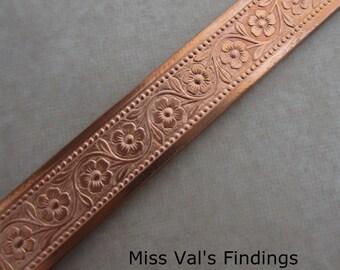 1 foot copper jewelry bezel wire flower pattern 8mm