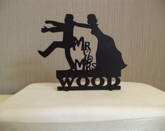 Wedding Cake Topper, Personalised,Whimsical