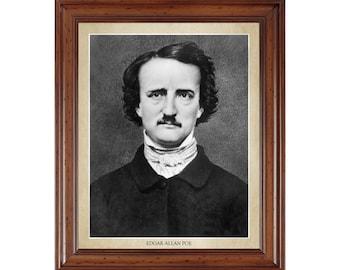 Edgar Allan Poe portrait; 16x20 print on premium heavy photo paper
