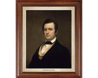 Stephen Foster portrait; 16x20 print on premium heavy photo paper