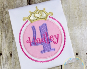 Princess Party, Fairytale Party, Girly Themed Personalized Birthday Shirt