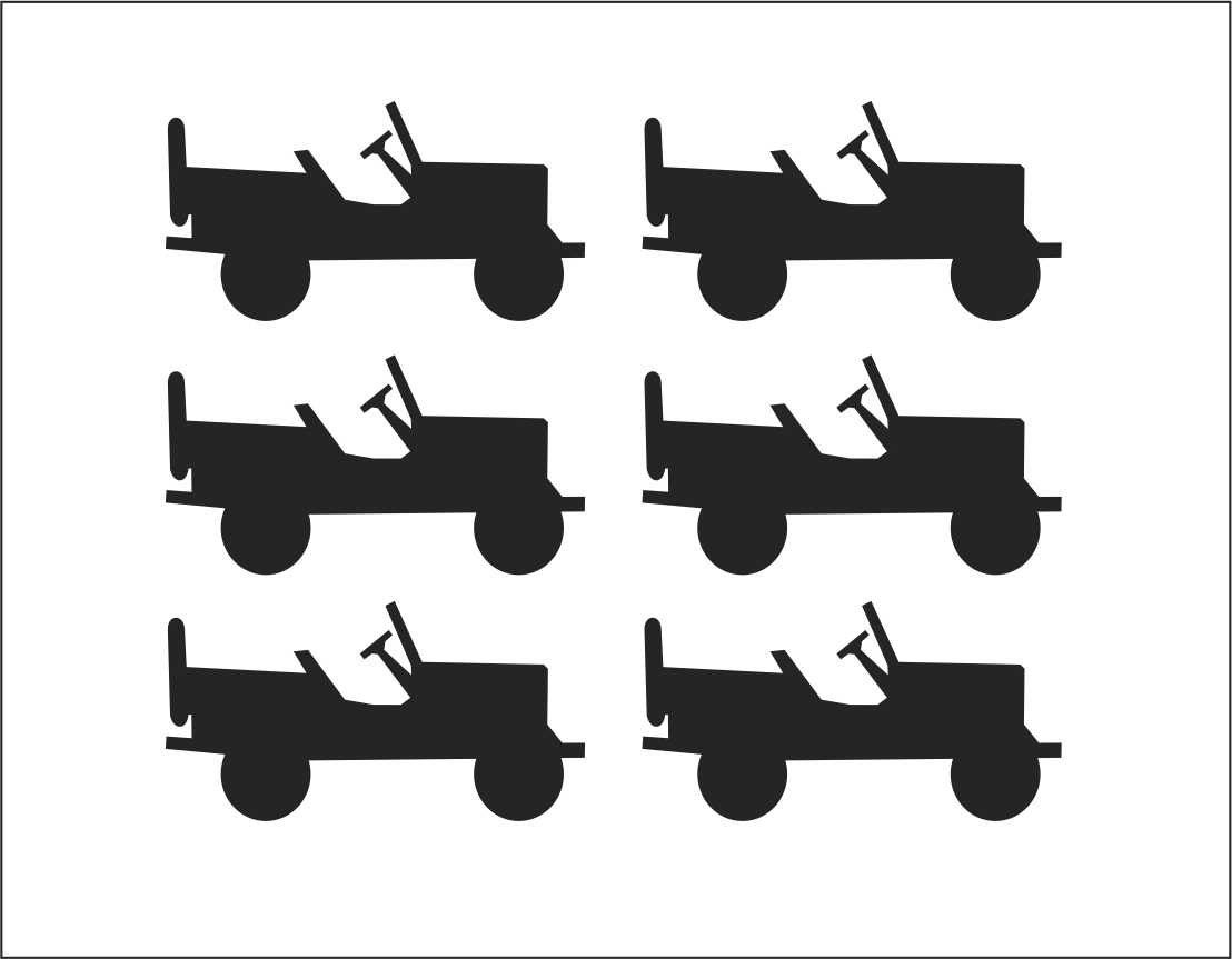 small jp decal set set of 6 decals for wheels