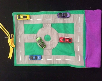 Car Roll Up Play Mat