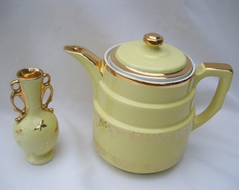 Halls Yellow Gold Coffee Pot Superior Made in the USA
