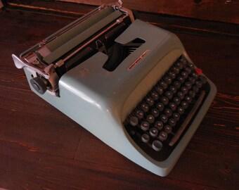 Blue Underwood Olivetti Typewriter