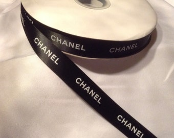 Sale!  5 yards Authentic CHANEL Black Ribbon New