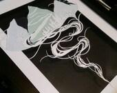 Custom order for Anna - Mountain paper art -