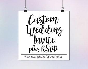 Custom Wedding Invitation & RSVP Card