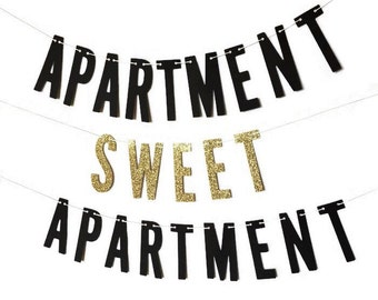 Apartment Sweet Apartment | Banner w/ Eyelets