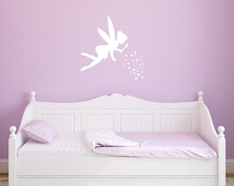 Fairy Wall Decal With Pixie Dust Vinyl Sticker for Kids Room Home Decor
