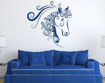 Horse Face 3 Decal Vinyl Wall Decal, Home Decor