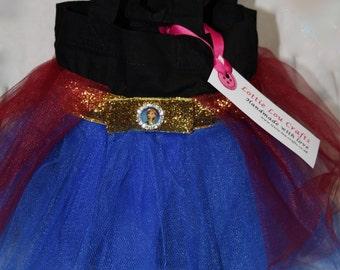Blue, Burgundy and Black Princess Tutu Bag