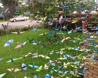 50 Cranes- 5 Strands/ Set of 10- Origami Crane Backdrop