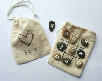 Pebble Tic Tac Toe- Kids Wedding Activities-