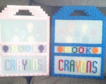 Coloring book and crayon carrier