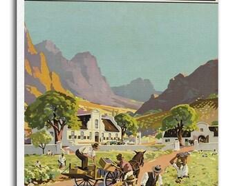 South Africa Art Vintage Travel Poster Retro Home Decor Print xr922
