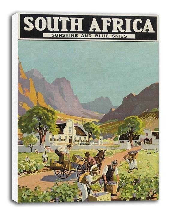 South Africa Art Vintage Travel Poster Retro Home Decor Print