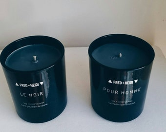 His + Hers candle set - black wax, soy and coconut wax blend