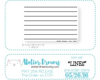 ADM-038 LINES - Mini - Planner Stamps (Photopolymer Clear Stamps) stamp lines, lines stamp, make your own lines