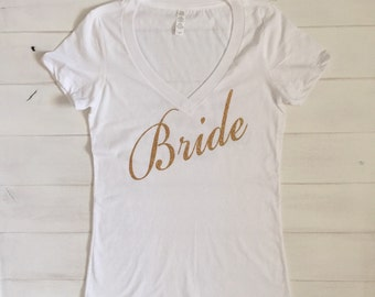 Bride Shirt with Rose