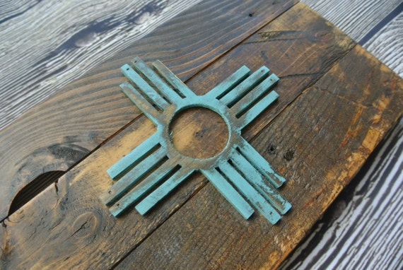Rustic 3d New Mexico Flag Reclaimed Pallet Wood Zia Sante