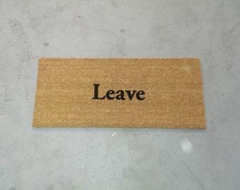 """15"""" x 36"""" Leave Doormat"""