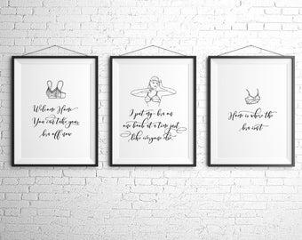 PDF Printables • Bra Humor Trio • Instant Digital Download