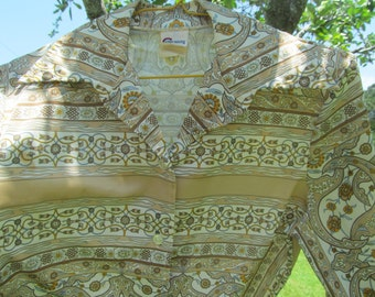 Womans Long Sleeve - Polyester -  Blouse size M - vintage Shirt - blouse - Top -paisley