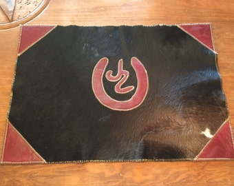 Custom Made Cowhide and Leather Place Mats