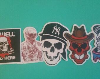 Random skull stickers set of 5