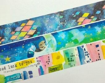 Catch star washi tape sample (3 designs each 100cm)