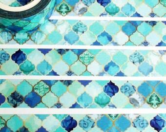 Blue Morocco washi tape