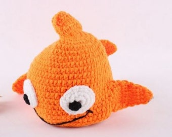 Nemo Fish Crochet Kids Hat