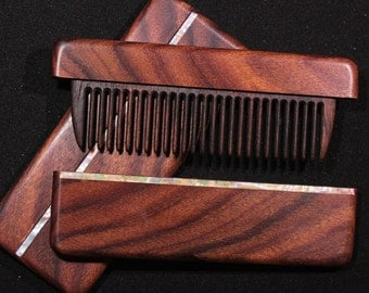 Combs light rosewood inlaid with mother of pearl