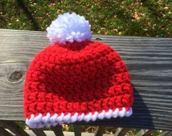 Crocheted Santa Inspired Hat