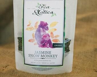 Jasmine White Tea / Jasmine Green Tea / Jasmine Green & White Tea Blend /  NO. 010 / Jasmine Snow Monkey Tea