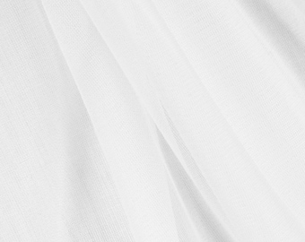 White Chiffon Tricot Fabric - by the yard