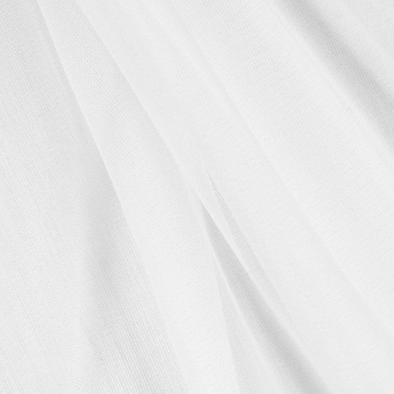 White Chiffon Tricot Fabric - by the yard from ...