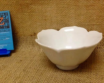 Vintage White Lotus Bowl