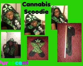Cannabis Scoodie scarf hoodie