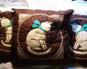 Cat Pillows set of (3)
