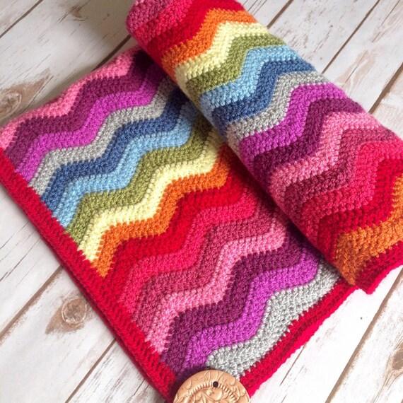 Rainbow baby blanket Rainbow blanket rainbow crochet