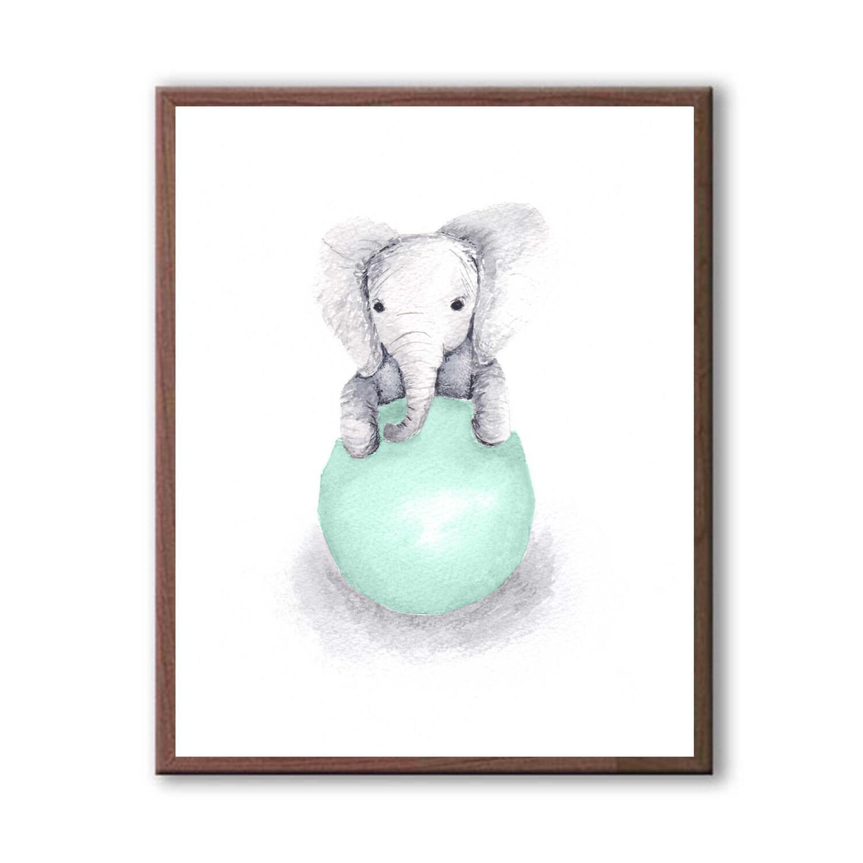 Elephant Wall Decor Baby Decor Art For Children Kids Room
