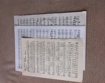 Song Sheets/ music  sheets / music paper/dating from 1920 to 1970