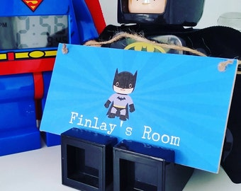 Personalised Boys Superhero Door Sign Plaque