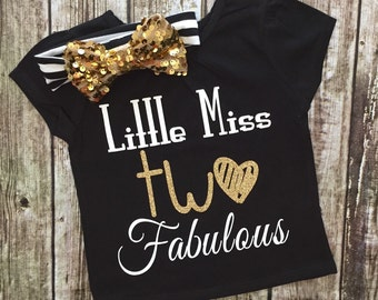 Girls Clothes, Little Miss Two Fabulous, Second Birthday Shirt, Two Fabulous Shirt, Second Birthday Shirts, Two, Second Birthday