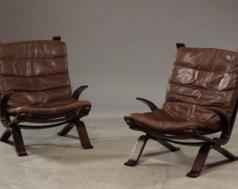 Great brown leather armchair/ easychair/ lounge chair, Mid Century Vintage (2 available)